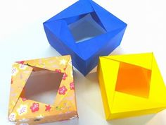 Origami Tutorial- How to fold an Easy Origami Gift Box - YouTube