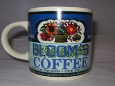 Bloom's Coffee Mug Cup Vacuum Packed 1999 Yesteryear Westwood Retro