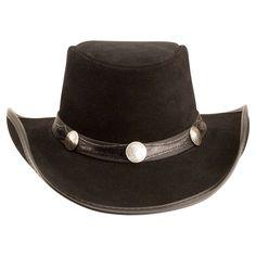 ecd8892068b0d Plainsman-Blazer Band (Black) - American Hat Makers Leather Cowboy Hats