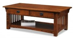 "Mission Coffee Table (Medium Oak) (1'7""H x 2'W x 4'D) by Leick, http://www.amazon.com/dp/B003CV5GD0/ref=cm_sw_r_pi_dp_b5slqb162ZD65"