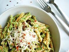 lentil pasta with arugula pesto - A Nutritionist Eats