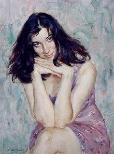Viktor, Lyapkalo A (b,1956)- Woman- Head- On Hands