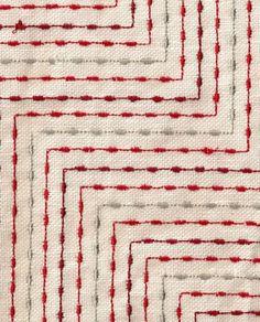 Manhattan in Cherry Lane Red by seemakrish. Embroidery