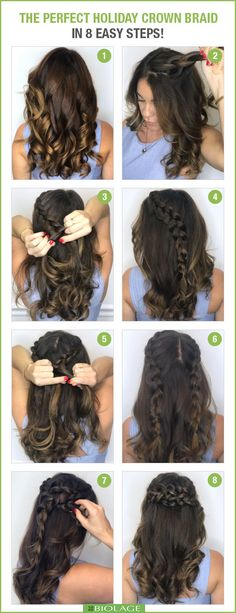 The perfect DIY crown braid for an holiday party!