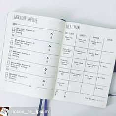 "1,355 likerklikk, 11 kommentarer – Minimalist Bullet Journals (@minimalistbujo) på Instagram: ""Absolutely love this workout and meal planning by @nosce__te__ipsum. Beautifully minimal and…"""