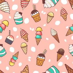 Geometric Background, Background Patterns, Ice Cream Background, Ice Cream Cartoon, Creative Bookmarks, Rose Gold Texture, Watercolor Paper Texture, Scrapbook Background, Doodle