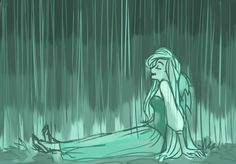 Ariel rainy day, love how comfy she is. Especially since the rain is my favorite weather and Ariel is my fav princess.