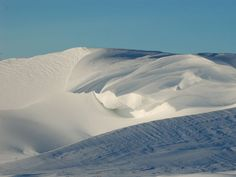 snow dunes or drifts...