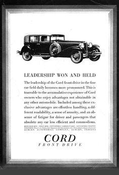 Cord Automobile, Car Illustration, Illustrations, Car Advertising, Vintage Ads, Cars, Auburn, Indiana, Truck