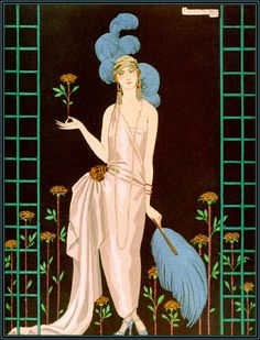 La Roseraie, George Barbier Illustration, 1922