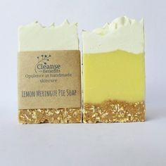 Lemon Meringue Pie Skinny Soap Bars by Cleanse With Benefits.