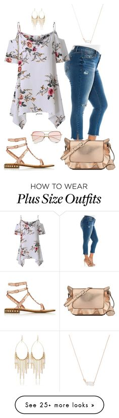 """Big girl romantic- plus size"" by gchamama on Polyvore featuring Slink Jeans, Kendra Scott, Nine West, Ash and White House Black Market"