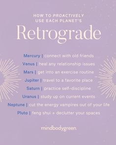 It's not all about Mercury! All planets go retrograde periodically. 💫 The areas that a planet rules can become weak, challenging, or… Astrology Planets, Astrology Numerology, Astrology Zodiac, Astrology Chart, Saturn Astrology, Astrology Meaning, Astrology Signs, Paz Mental, New Moon Rituals