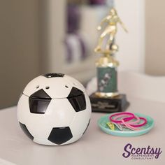 Scentsy Soccer Ball Goal Warmer #coachgift #soccerfan #wicklesscandle