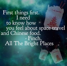 All The Bright Places Jennifer Niven All The Bright Places Quotes, Theodore Finch, Jennifer Niven, Daughter Of Smoke And Bone, Place Quotes, Favorite Book Quotes, Reading Quotes, Reading Books, Famous Books