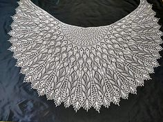 Best 12 Crystal Dew is a half circle shawl knitted top down. Crochet Vest Pattern, Shawl Patterns, Crochet Stitches Patterns, Lace Patterns, Knit Stitches, Top Pattern, Knitted Shawls, Crochet Shawl, Crochet Lace