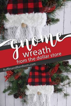 I absolutely adore this easy Christmas wreath with a gnome face on it! Click through to get the easy dollar store gnome wreath tutorial you can make in minutes! Merry Christmas, Christmas Gnome, Rustic Christmas, Christmas Stockings, Christmas Wreaths, Christmas Crafts, Christmas Decorations, Christmas Ornaments, Holiday Decor