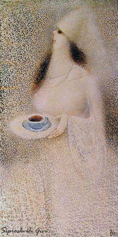 Сипрошвили Гиви. На чашку кофею  холст/масло 100см x 50см 2011 г.