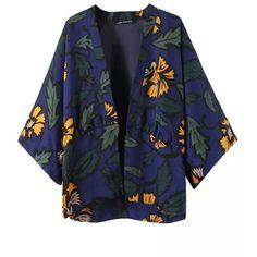 Chicnova Fashion Flower Printed Kimono ($23) ❤ liked on Polyvore featuring intimates, robes, kimonos, outerwear, floral print robe, kimono robe, floral kimono robe, floral kimono and floral print kimono