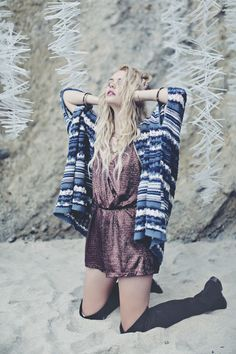 Be one with winter in this glacial cardigan and sparkling romper. Take $50 off your order of $150+ with code WINTER.