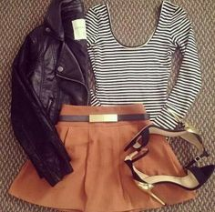 Oh! Cute but edgy, I like the jacket! :)