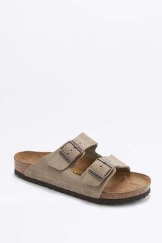 Birkenstock Arizona Taupe Suede Sandals / Regular Width, Size: EU 40 = US 9-9.5
