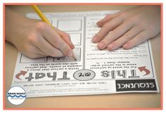 """Give students an option for morning work. This is such a great idea: Students choose to complete """"this"""" or """"that"""" on the sheet. Differentiating in a snap!"""
