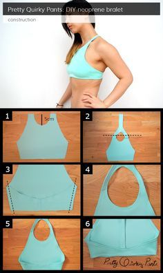 Neoprene Bralet - Free pattern and step by step Photo tutorial - Bildanleitung und gratis Schnittvorlage