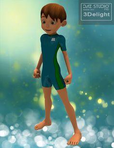 Toon Boy Sam rendered in 3Delight in DAZ Studio 4.9
