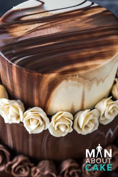Chocolate ganache & modeling chocolate roses by Joshua John Russell | chocolate wedding cake ideas