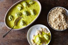 Punjabi Buttermilk Stew with Spinach Dumplings, a recipe on Food52