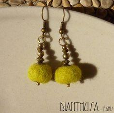 dianthusa rev felt earrings