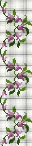 purple swirls--do in thread with granny cluster rows