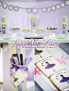 Sugar Plum Fairy Nutcracker Dessert Table. Dreamy.