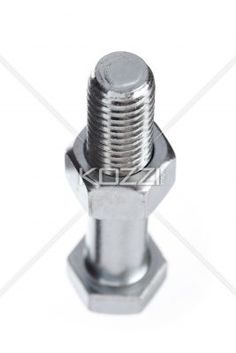bolt with short focus - A bolt and nut shot with short focus