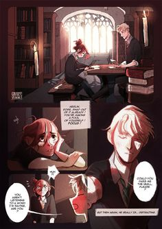 Different, a Scorpius / Rose comic page: I / V
