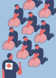 The promise and limits of 'mental health first aid' - Ideas - The Boston Globe More poster The promise and limits of 'mental health first aid' Mental Health Posters, Mental Health First Aid, Mental Health Art, Mental Health Awareness, Mental Health Stigma, Illustrations, Illustration Art, Mental Health Campaigns, Psy Art