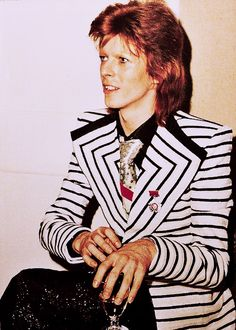 bowie it's about that jacket' steam punk look.