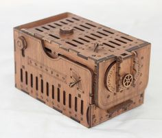 Steampunk Dice Tower - dice games, board games, RPG, laser cut and etched with amazing detail. by BasicallyWooden on Etsy https://www.etsy.com/au/listing/457924346/steampunk-dice-tower-dice-games-board