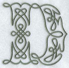 Celtic Knotwork Letter D - 5 Inch