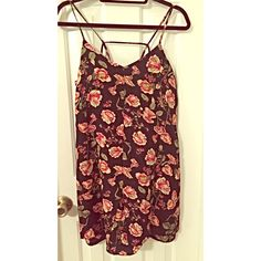 Cutout Floral Shift Dress  Cute lightweight floral shift dress with strapped back. New with tags! Forever 21 Dresses Mini