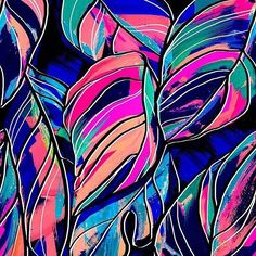 Tropical leaves #newonpatternbank http://patternbank.com/maspram%E2%80%A6