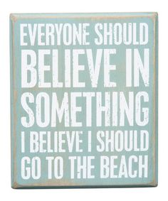 'Go to the Beach' Block Sign #zulily #zulilyfinds