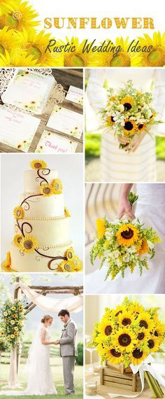 sunflower rustic wedding ideas and sunflower laser cut wedding invitations