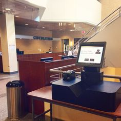 Self-checkout station near the Circulation Desk! via Instagram