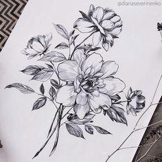 Cute Tattoos, Unique Tattoos, Body Art Tattoos, Sleeve Tattoos, Tatoos, Floral Thigh Tattoos, Flower Tattoos, Vintage Tattoo Sleeve, Henna Pen