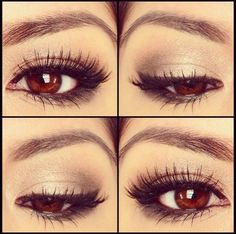 Love the natural look with the dark eye to make em pop !