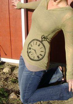 SALE -xl, xxl - Pocket Watch Long Sleeved Tee in Willow Green Lisa Boesch