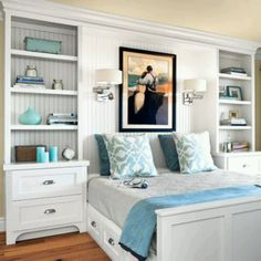 Cool Room I Really Like This Bedroom Built Insbuilt In Bedbedroom Bookcasesmall Bedroom Storagesmall Master