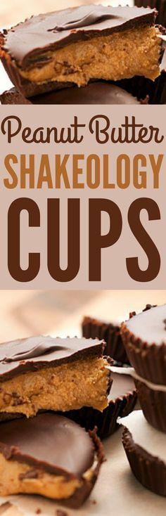 Peanut Butter Cups - Peanut Butter Shakeology Cups #peanutbuttercups #peanutbutter #peanutbutterdesserts #proteindesserts #desserts #treats #healthydesserts #healthytreats #cleaneatingtreats #cleaneatingdesserts #cleaneating #healthypeanutbuttercups